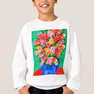 Tulips in a Vase Painting Sweatshirt