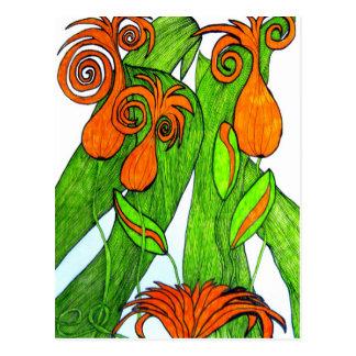 Tulips in orange Postcard