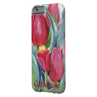 Tulips in Red and Pink Watercolor Barely There iPhone 6 Case