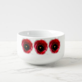Tulips. In red Soup Mug