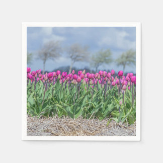 Tulips in the wind paper serviettes