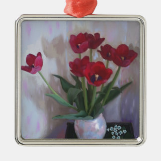 Tulips in vase christmas ornaments