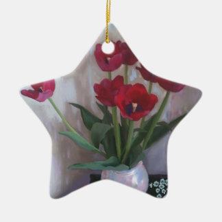 Tulips in vase ornament