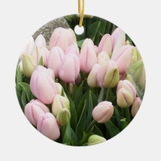 Tulips Lite Pink Christmas Tree Ornaments