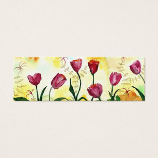Tulips. Mini Business Card
