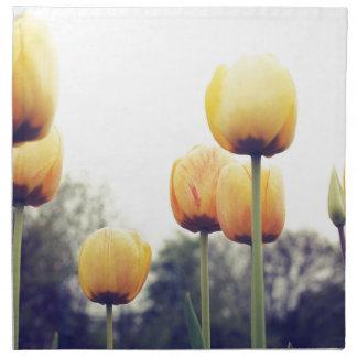 tulips napkin