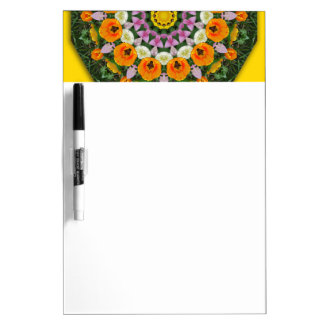 Tulips Nature, Flower-Mandala Dry Erase Board