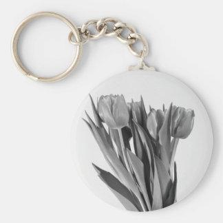 Tulips on White - Keychain