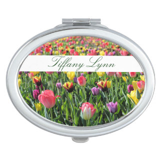 Tulips Personalized Compact Mirror
