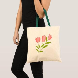 tulips pink tote bag