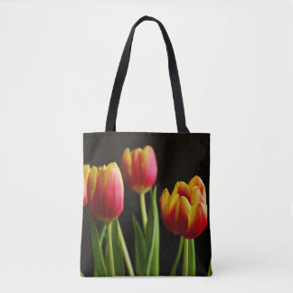tulips pretty flower photography tote bag