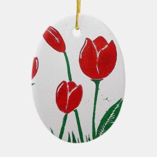 Tulips Print Ornament