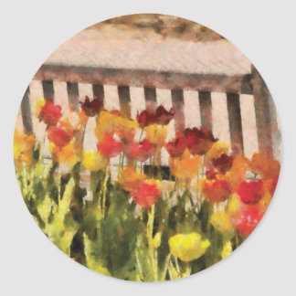 Tulips - Retirement can be sweet Round Stickers