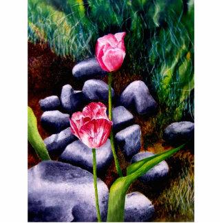 Tulips Standing Photo Sculpture