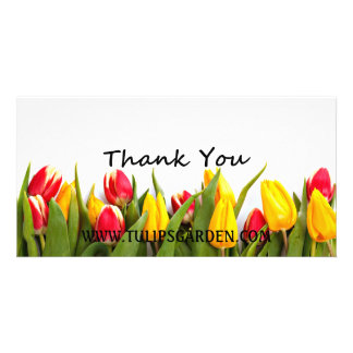 Tulips Thank-You Customizable Photo Card
