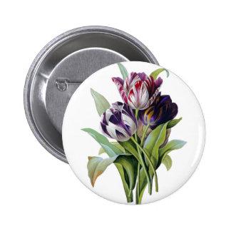 Tulips Trio 6 Cm Round Badge