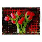 Tulips Valentine Card (Large Print)