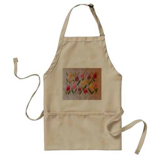 Tulips vintage embroidery aprons