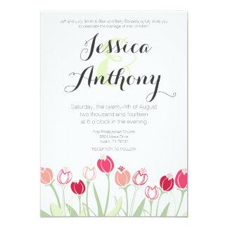 Tulips Wedding Invitation | Red Colors