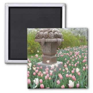 Tulips with Fruit Bowl Sculpture Fridge Magnet