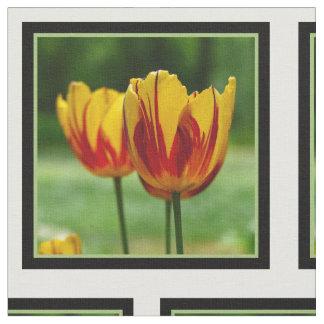 Tulips yellow red_009_q_R5 Fabric