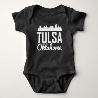 Tulsa Oklahoma Skyline Baby Bodysuit