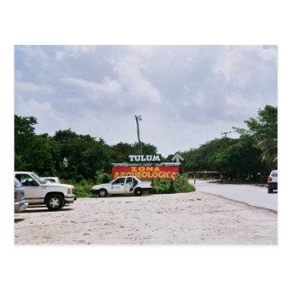 tulum (entrance Mayan creek) Postcard