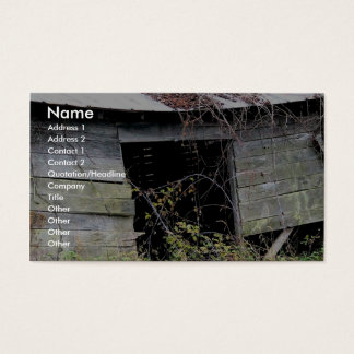 Tumble Down Farm Shed With Fallen Roof Business Card