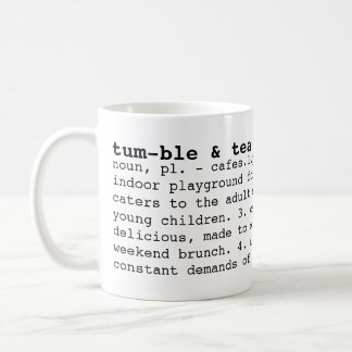 tumble & tea cafe dictionary mug