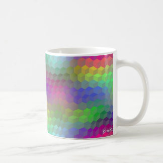 tumbling blocks coffee mug