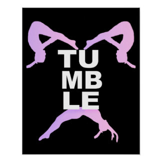 Tumbling Girls Poster