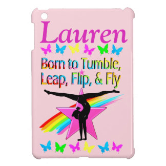 TUMBLING GYMNAST PERSONALIZED IPAD CASE
