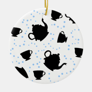 Tumbling Tea Party Ceramic Ornament