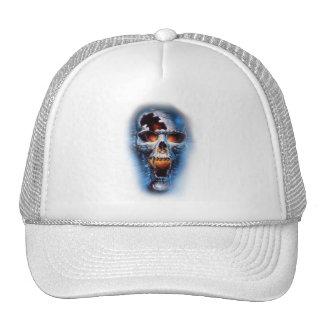 tumblr static evil blue skull cap
