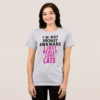 Tumblr TShirt I'm Not Socially Awkward I Love Cats