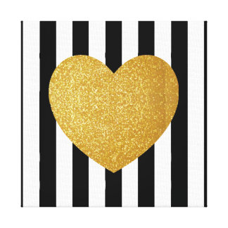 TUMBLR WALL ART GOLD GLITTER HEART