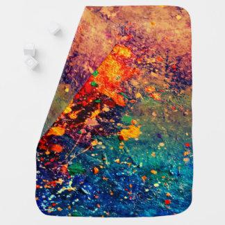 Tumultuous Baby | Colorful Bold Rainbow Splatter | Baby Blanket