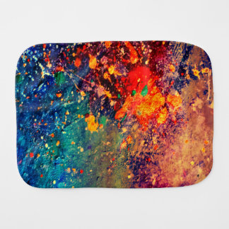 Tumultuous Baby | Colorful Bold Rainbow Splatter | Burp Cloth