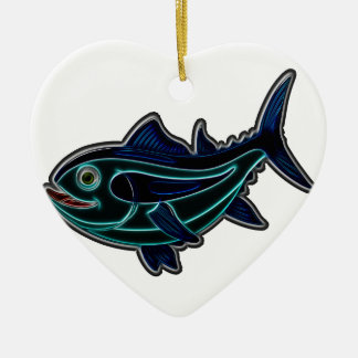 Tuna Ceramic Heart Decoration