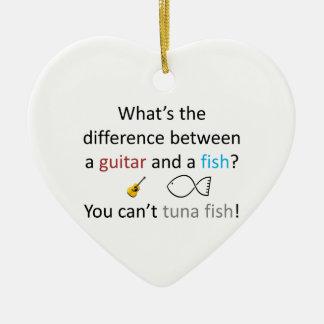 Tuna Fish Joke Ceramic Heart Decoration