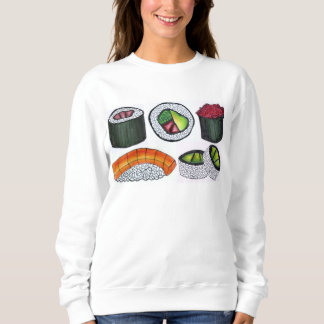 Tuna Roll Nigiri Japanese Food Sushi Sweatshirt