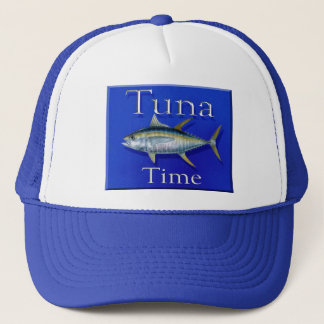 Tuna time trucker hat