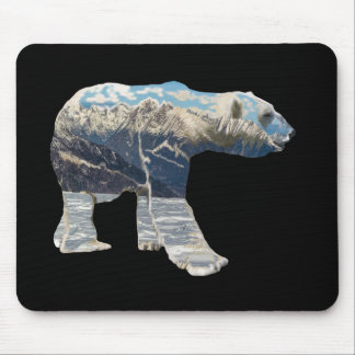 Tundra Polar Bear Mouse Pad