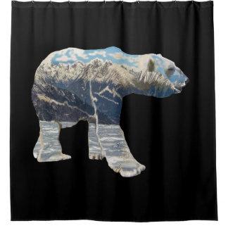 Tundra Polar Bear Shower Curtain