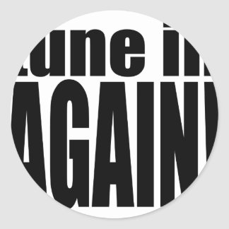 tune again music summer party night alone hangover classic round sticker