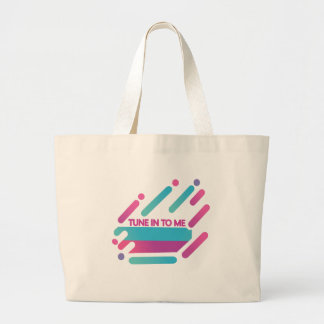 Tune-in-to-me Large Tote Bag