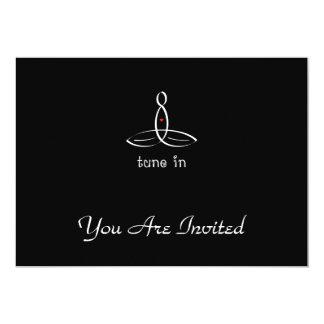 Tune In - White Fancy style 13 Cm X 18 Cm Invitation Card