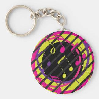 Tune Basic Round Button Key Ring
