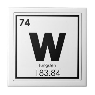 Tungsten chemical element symbol chemistry formula ceramic tile
