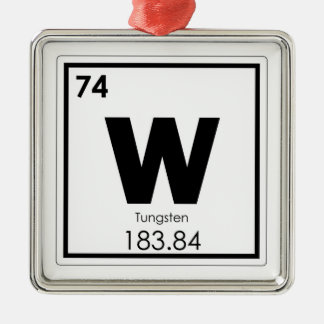Tungsten chemical element symbol chemistry formula metal ornament